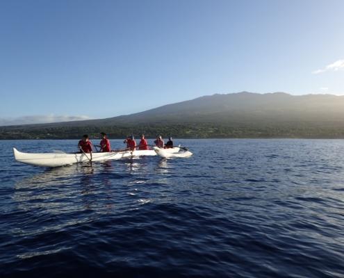 6 Man Outrigger Canoe Maui
